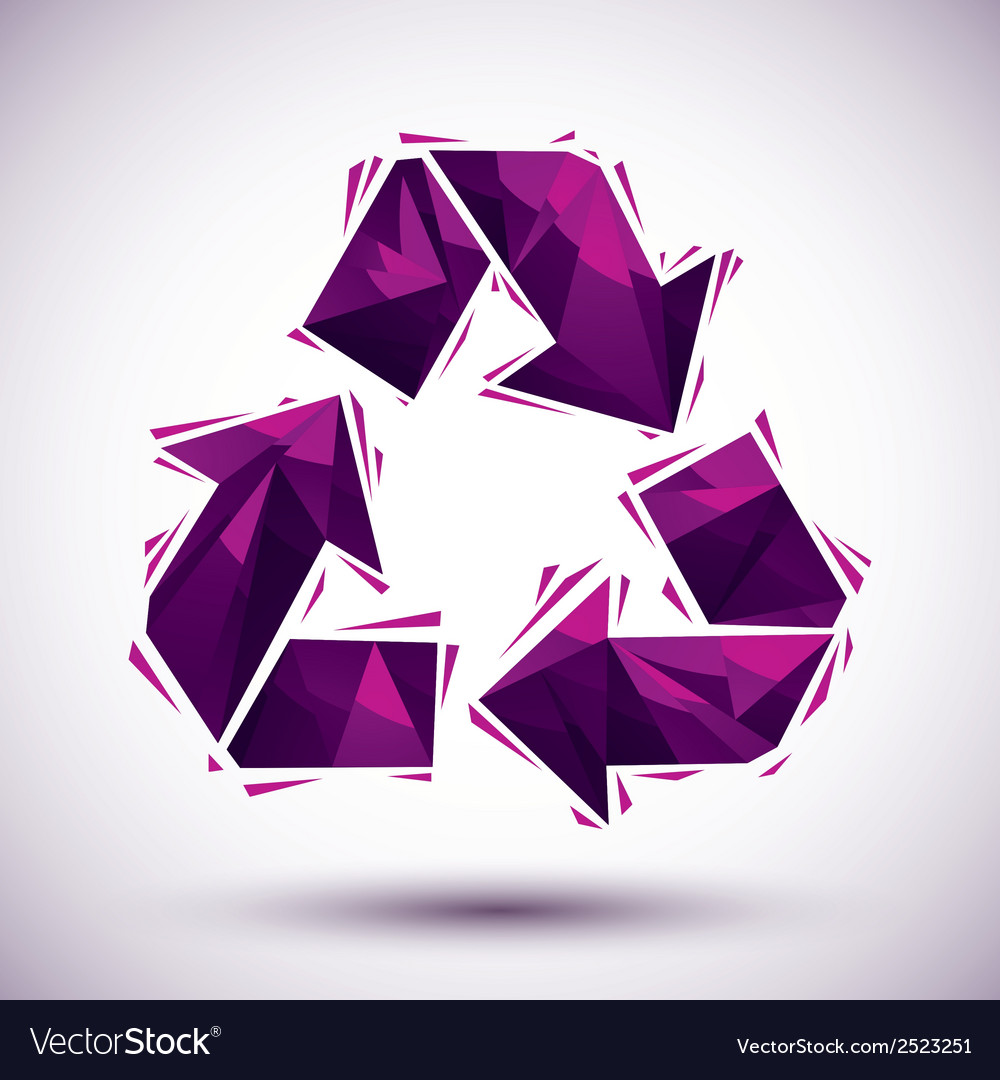 Violet recycle geometric icon made in 3d modern vector | Price: 1 Credit (USD $1)