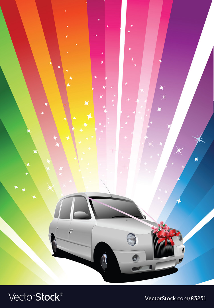 Wedding car vector | Price: 1 Credit (USD $1)