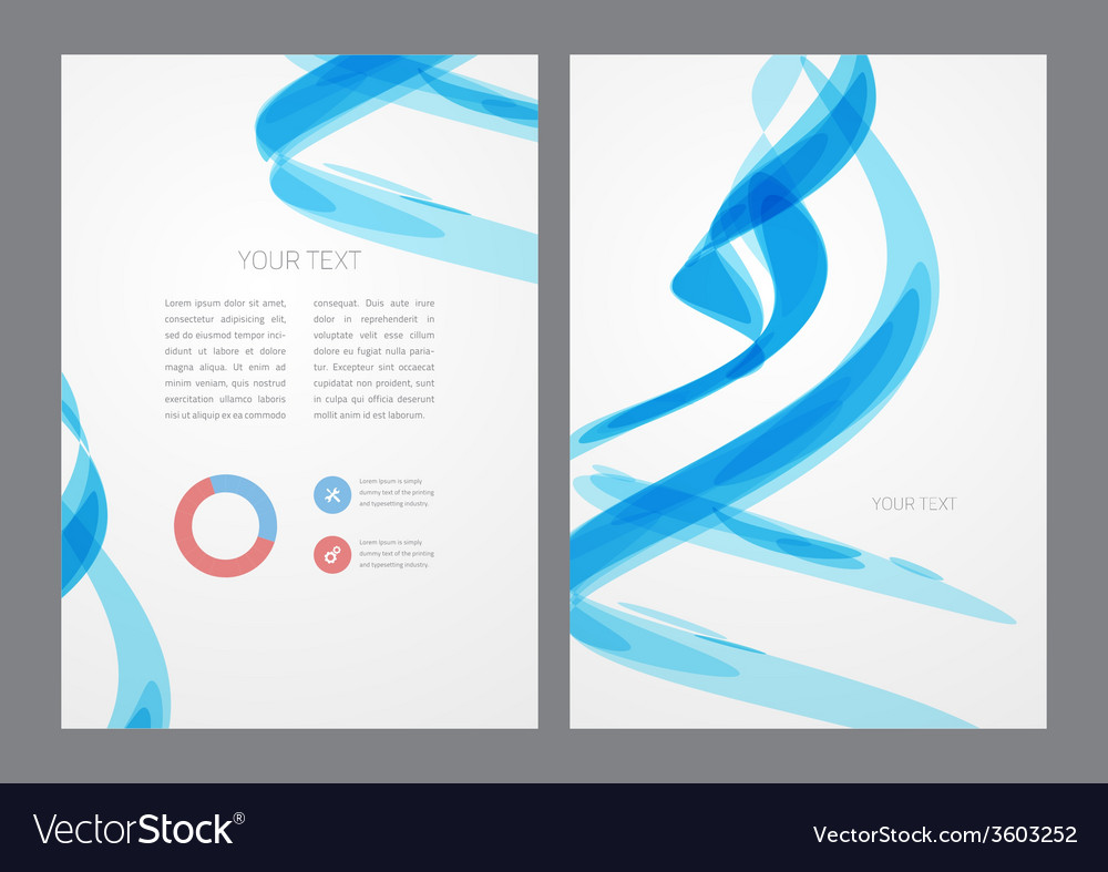 Abstract modern bright blue flyer vector | Price: 1 Credit (USD $1)