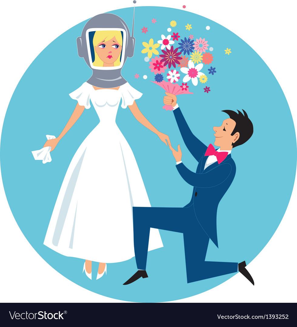 Allergic bride vector | Price: 3 Credit (USD $3)