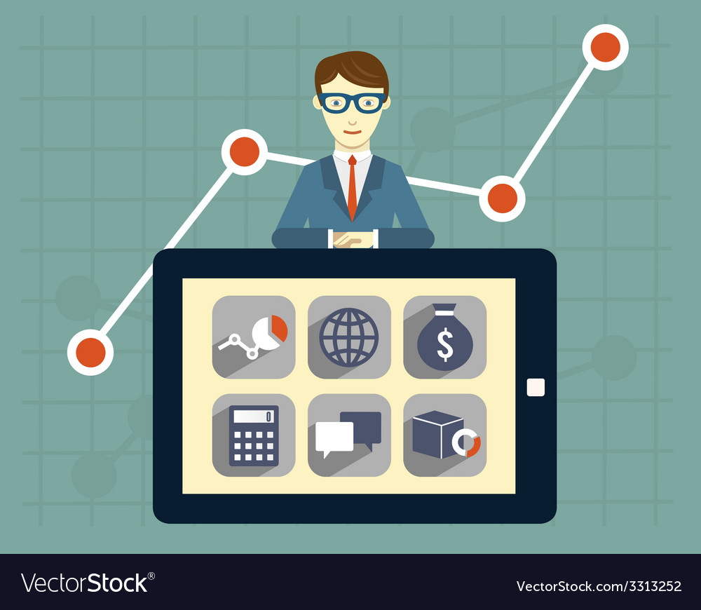 Analytics information and management resources vector   Price: 1 Credit (USD $1)