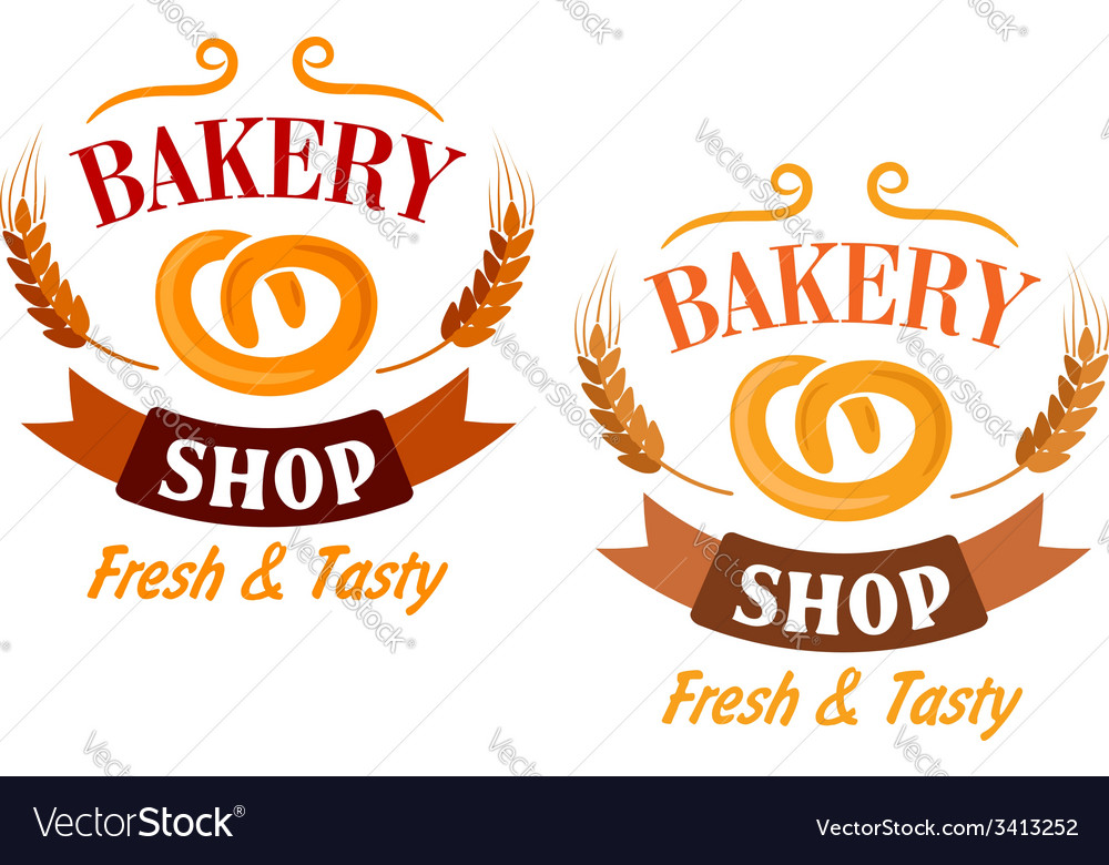 Bakery shop and pretzel sign vector | Price: 1 Credit (USD $1)