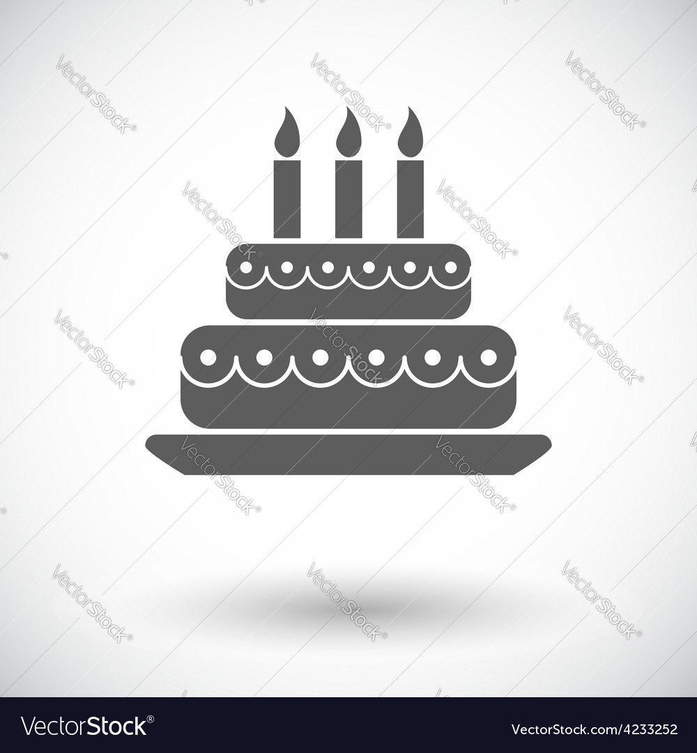 Cake icon vector | Price: 1 Credit (USD $1)