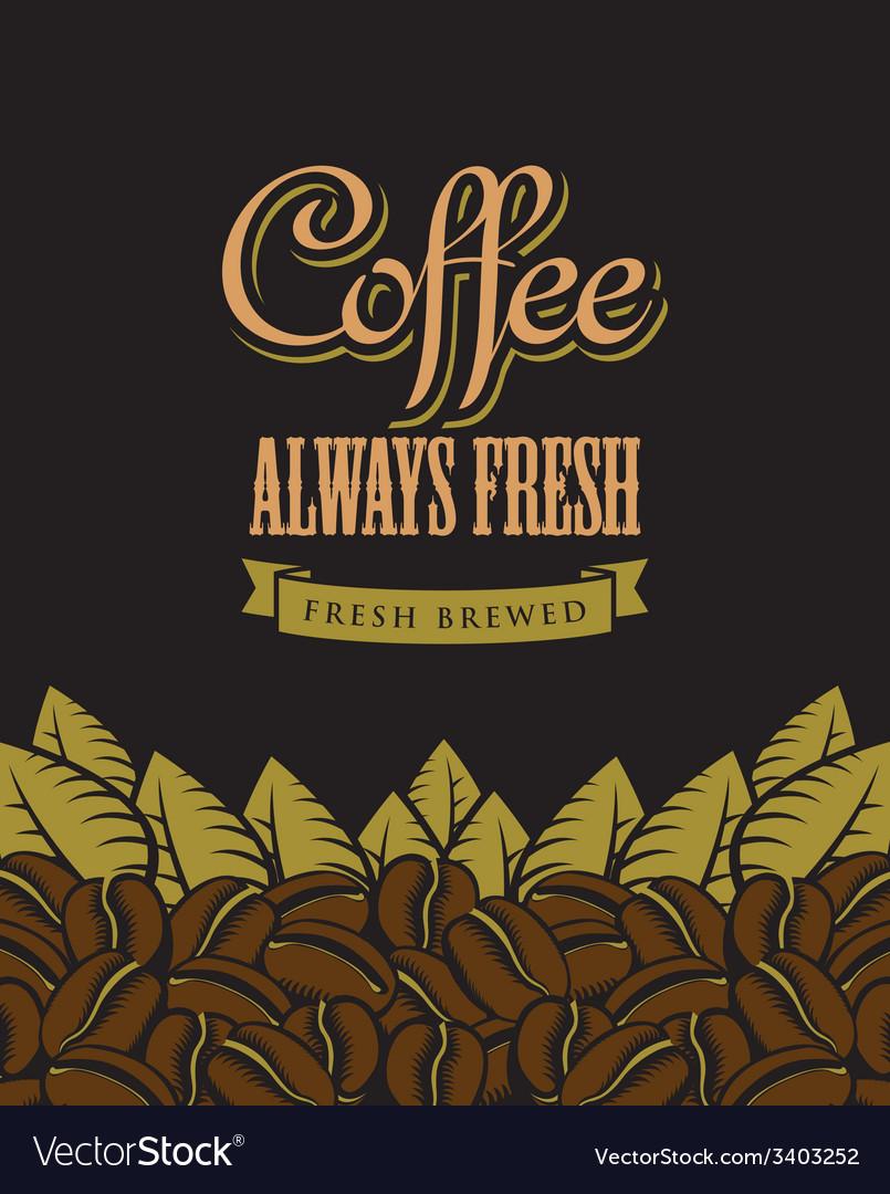 Coffee fresh vector | Price: 1 Credit (USD $1)