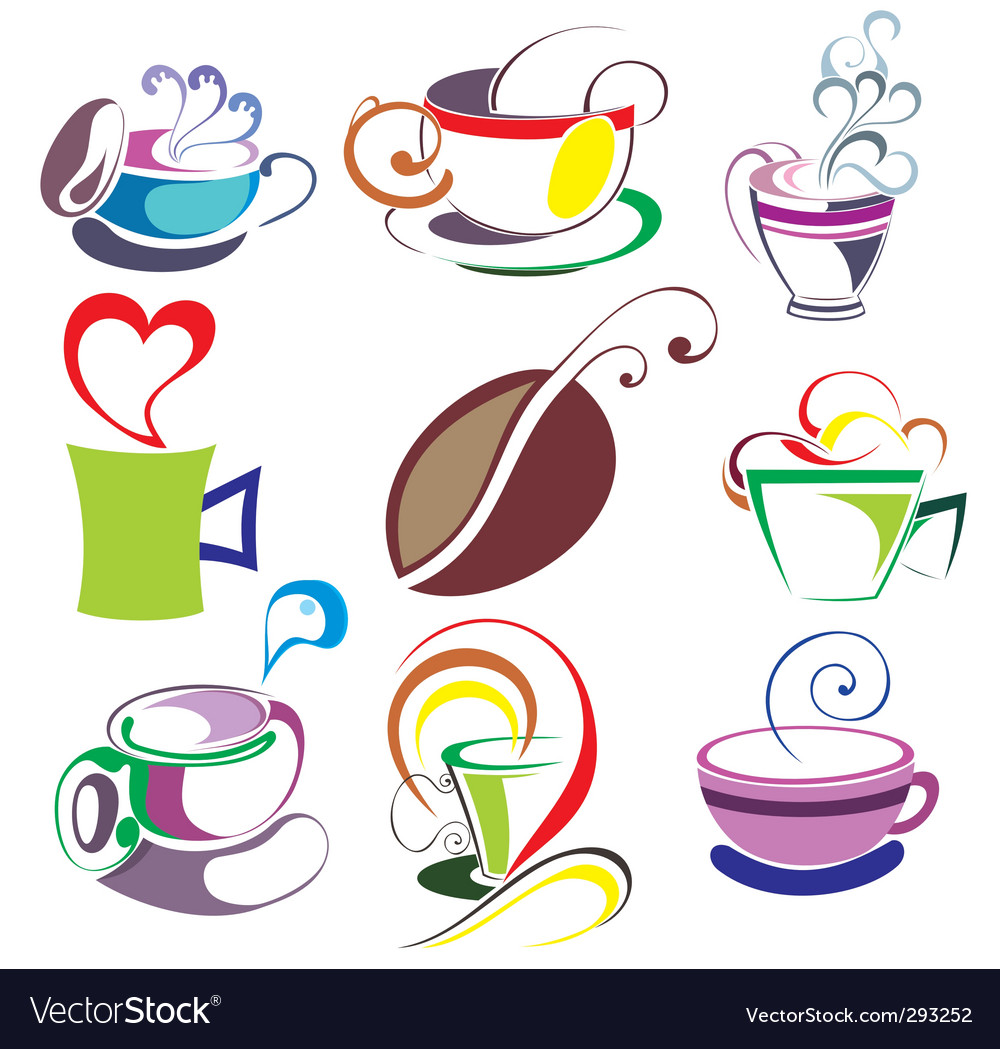 Coffee tea elements vector | Price: 1 Credit (USD $1)