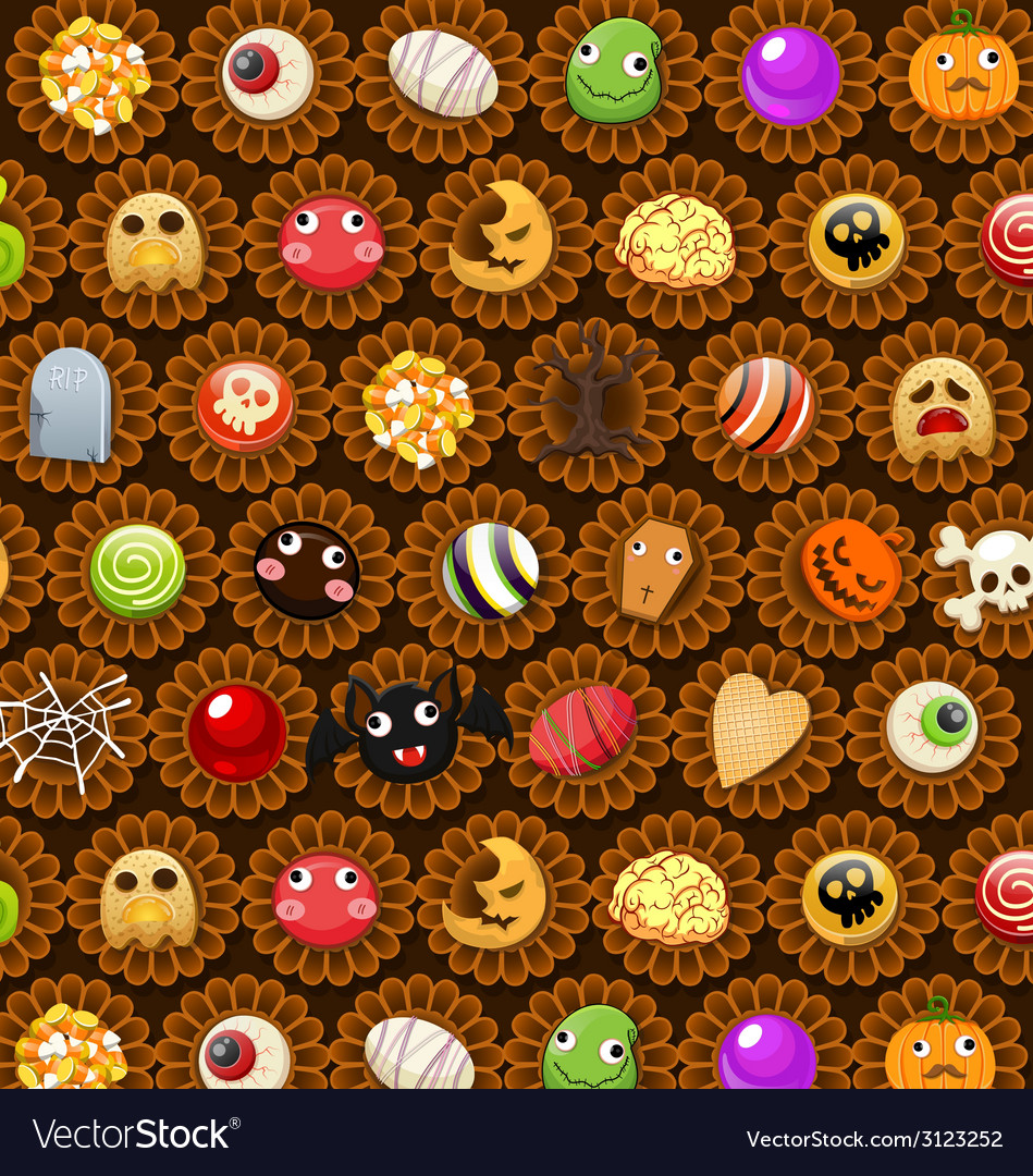 Collection of halloween candy sweet vector | Price: 1 Credit (USD $1)