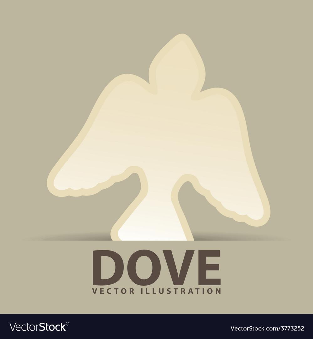 Dove icon design vector | Price: 1 Credit (USD $1)