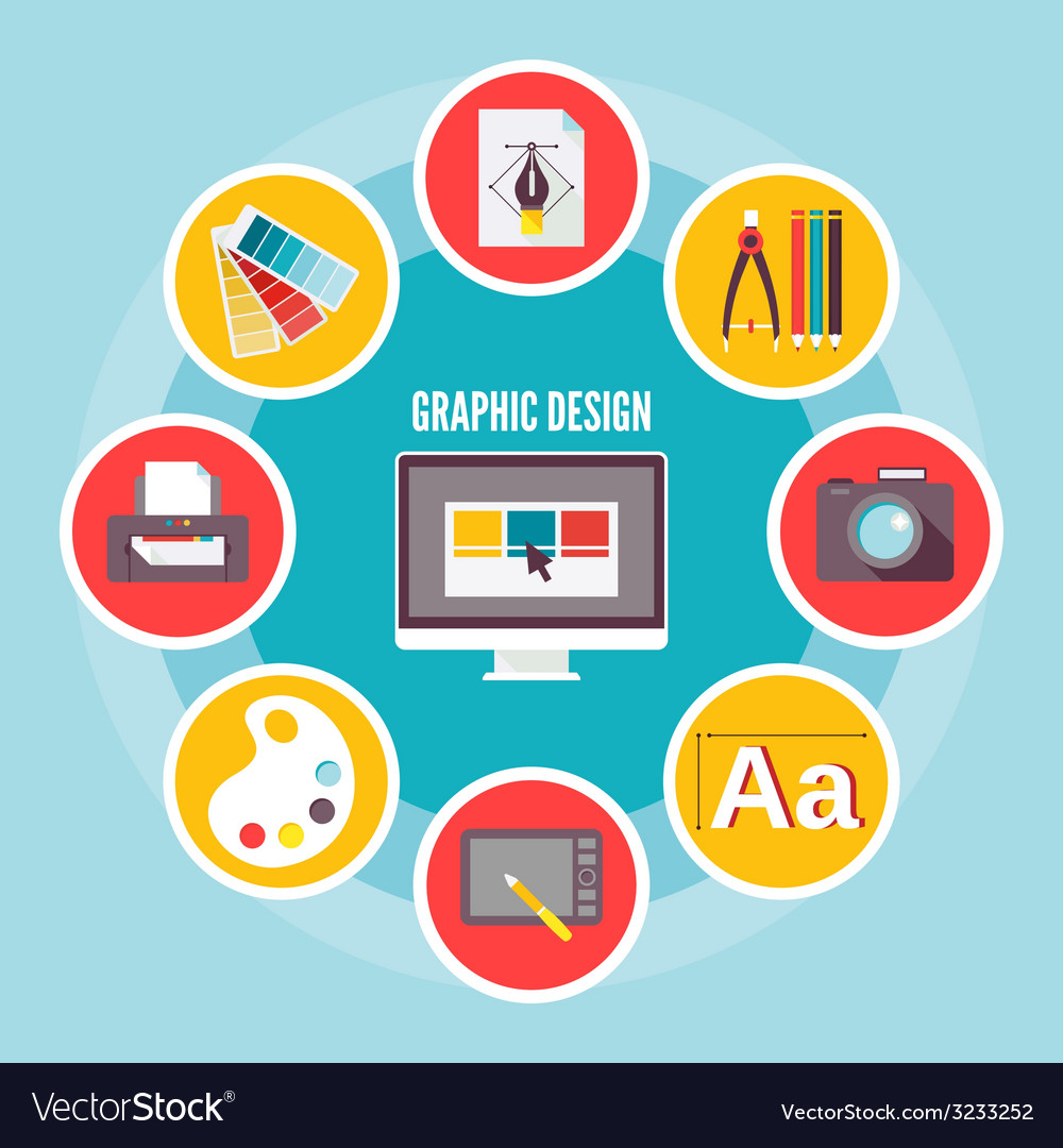 Graphic design icons vector