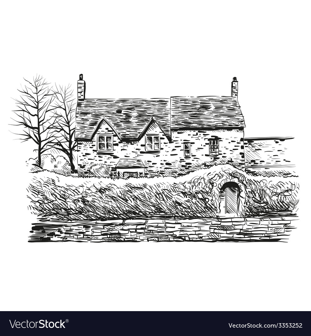 Hand drawn house vector | Price: 1 Credit (USD $1)
