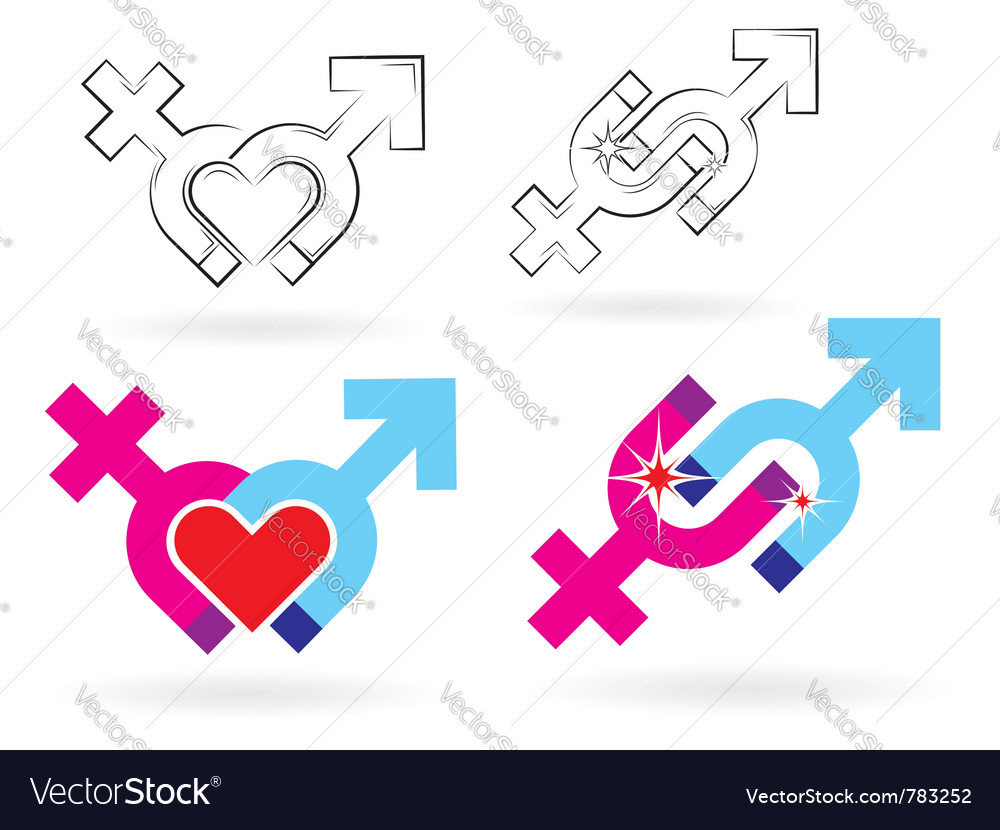 Male and female magnetism vector | Price: 1 Credit (USD $1)