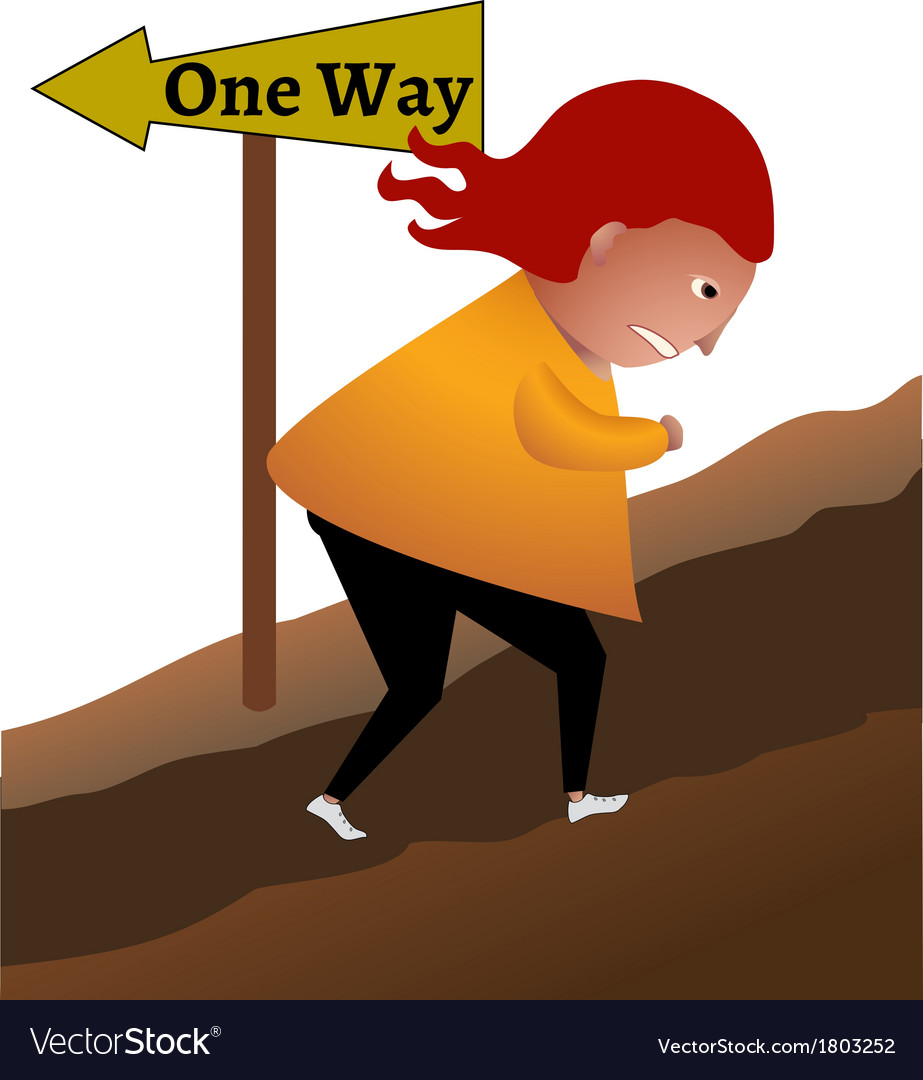 One way vector | Price: 1 Credit (USD $1)
