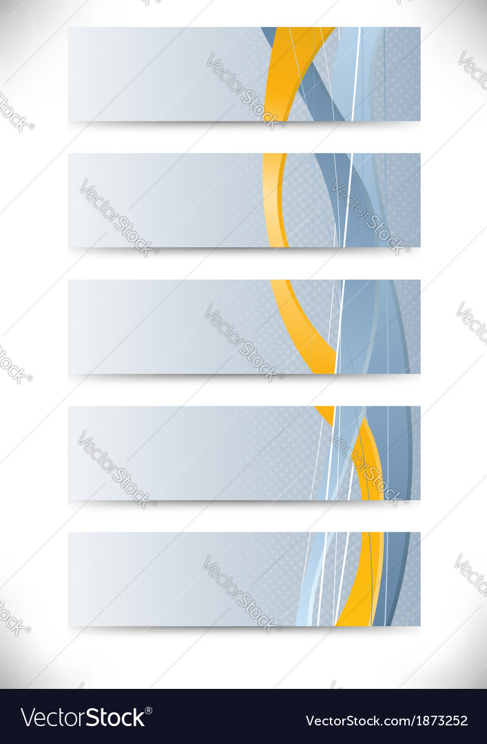Set of business cards with golden stripe vector | Price: 1 Credit (USD $1)