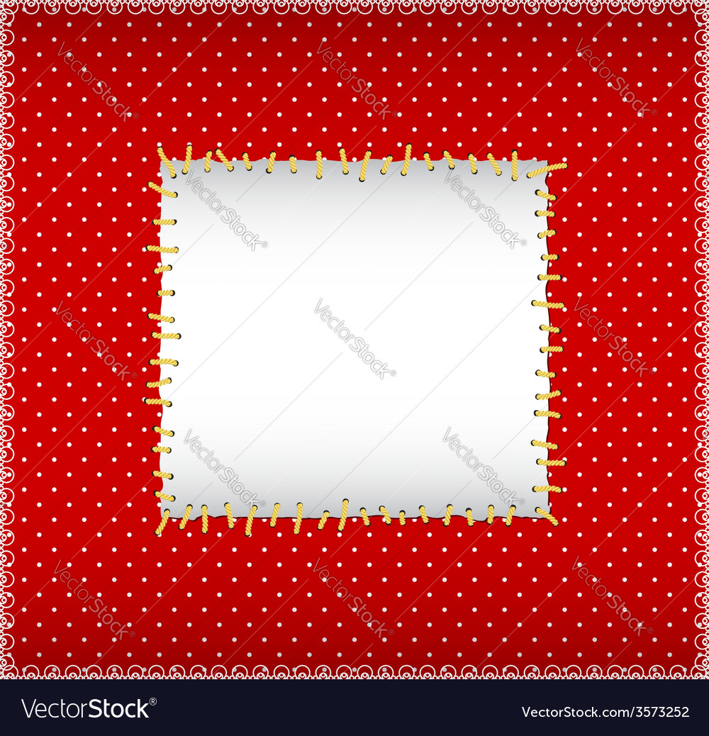 Stitched sqare frame vector | Price: 1 Credit (USD $1)