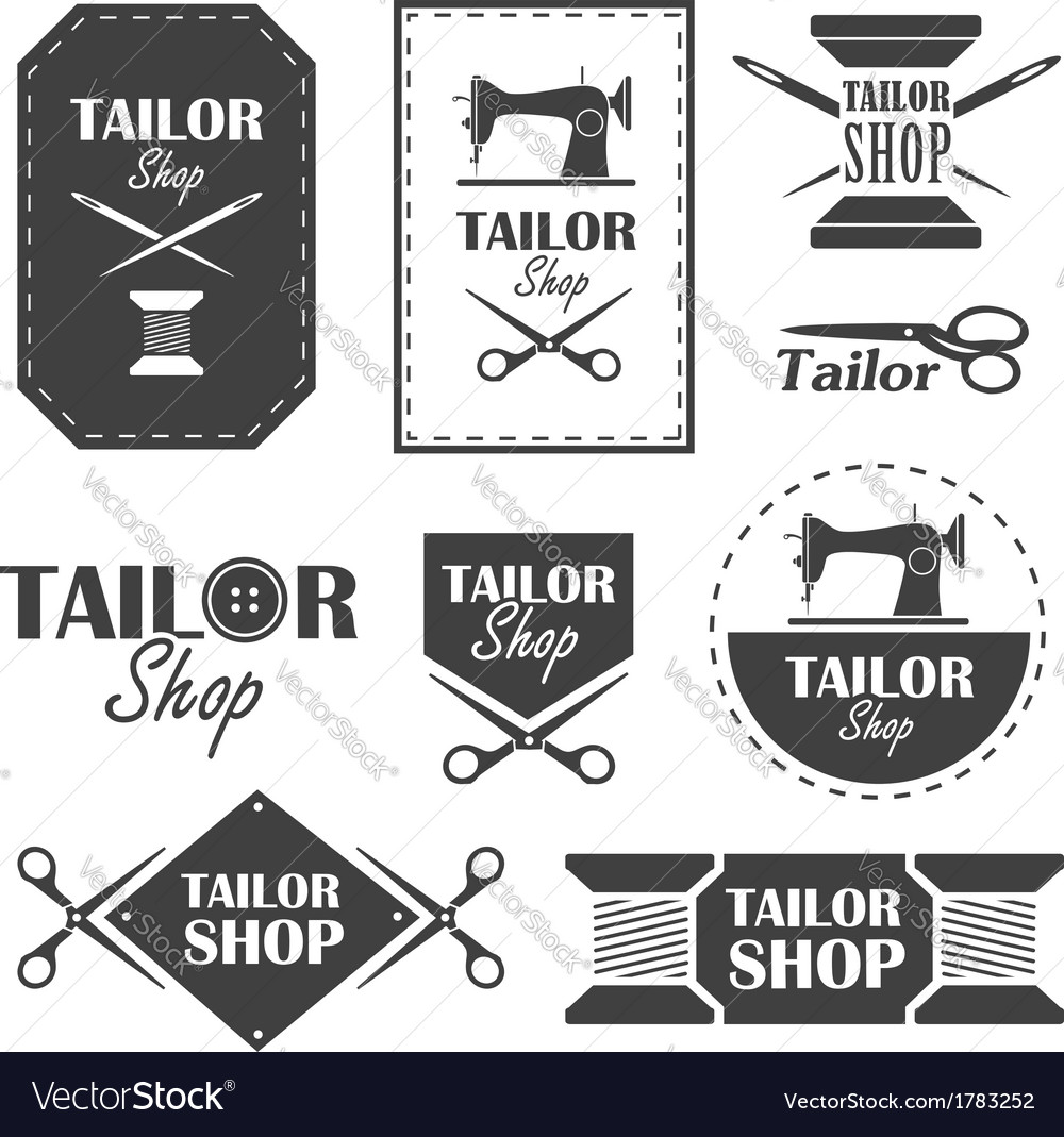 Tailor shop vector | Price: 1 Credit (USD $1)