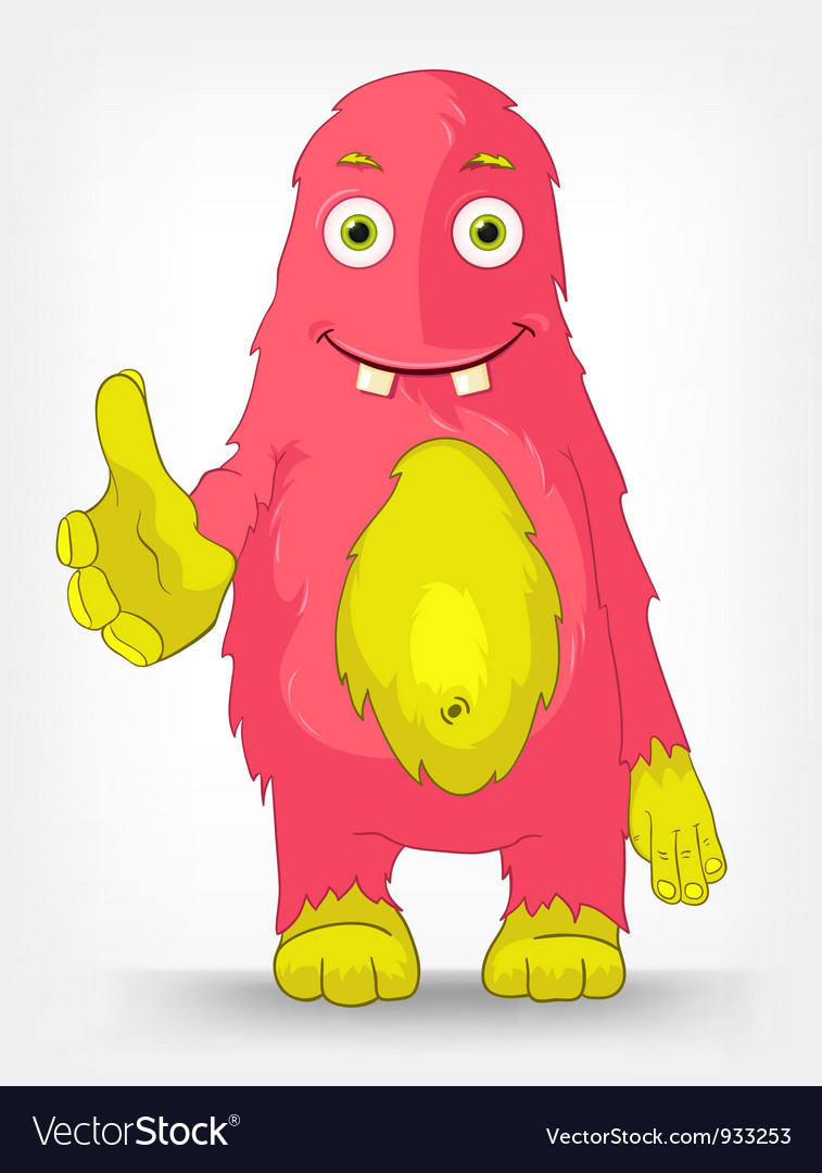 Funny monster trust vector | Price: 1 Credit (USD $1)