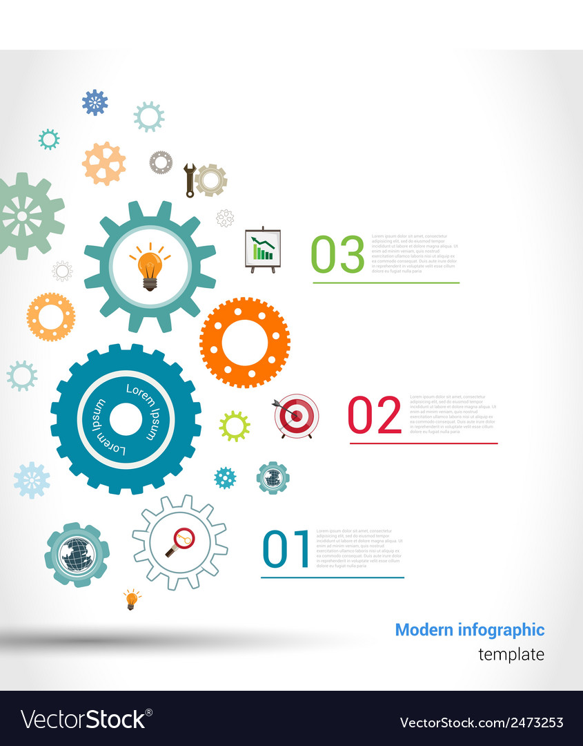 Gears infographics template vector | Price: 1 Credit (USD $1)