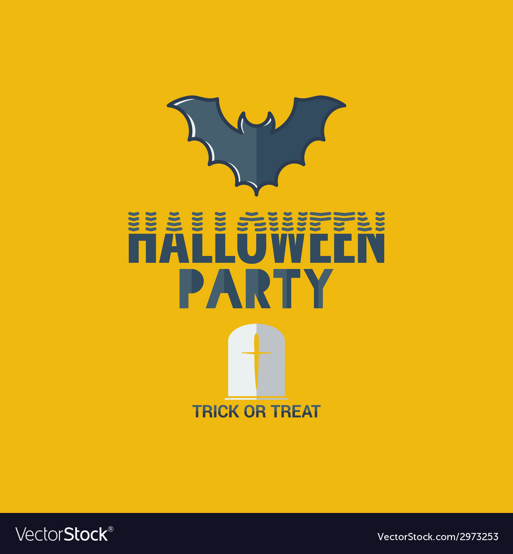 Halloween party flat design background vector | Price: 1 Credit (USD $1)