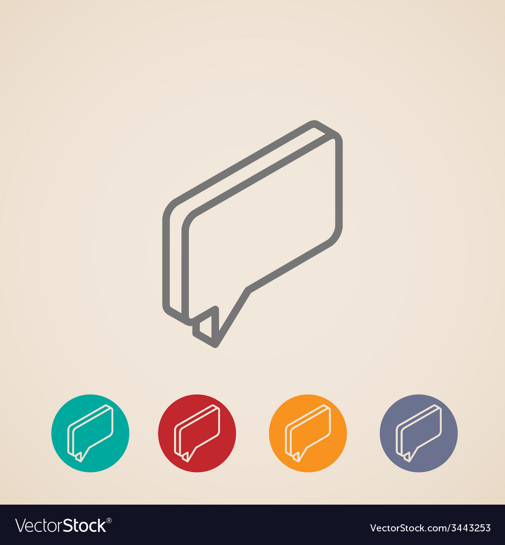 Isometric icon with speech bubble vector   Price: 1 Credit (USD $1)