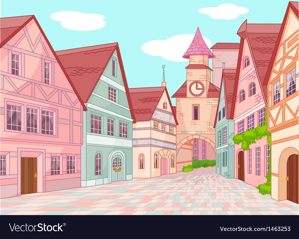 Little europe town vector | Price: 3 Credit (USD $3)