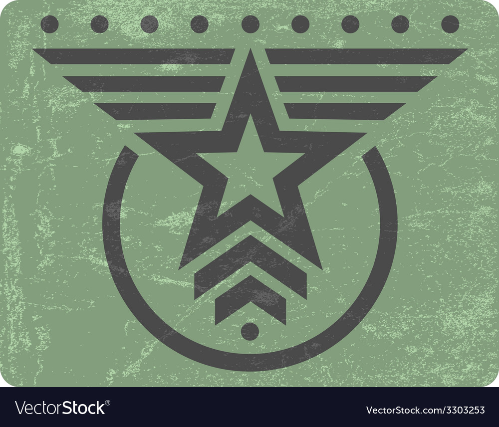 Military style grunge emblem vector | Price: 1 Credit (USD $1)