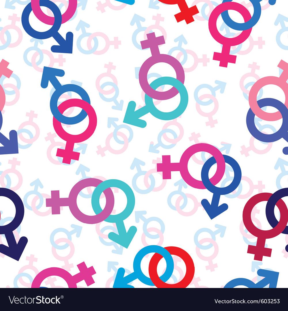 Seamless gender background vector | Price: 1 Credit (USD $1)
