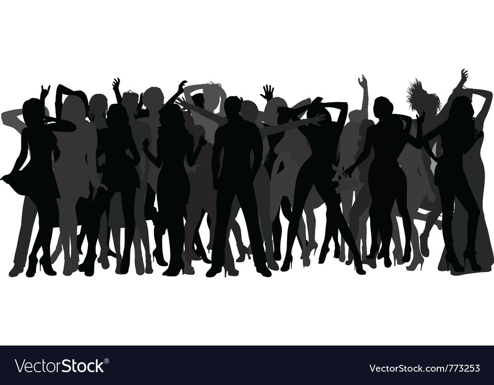 Silhouettes of dancing people vector | Price: 1 Credit (USD $1)