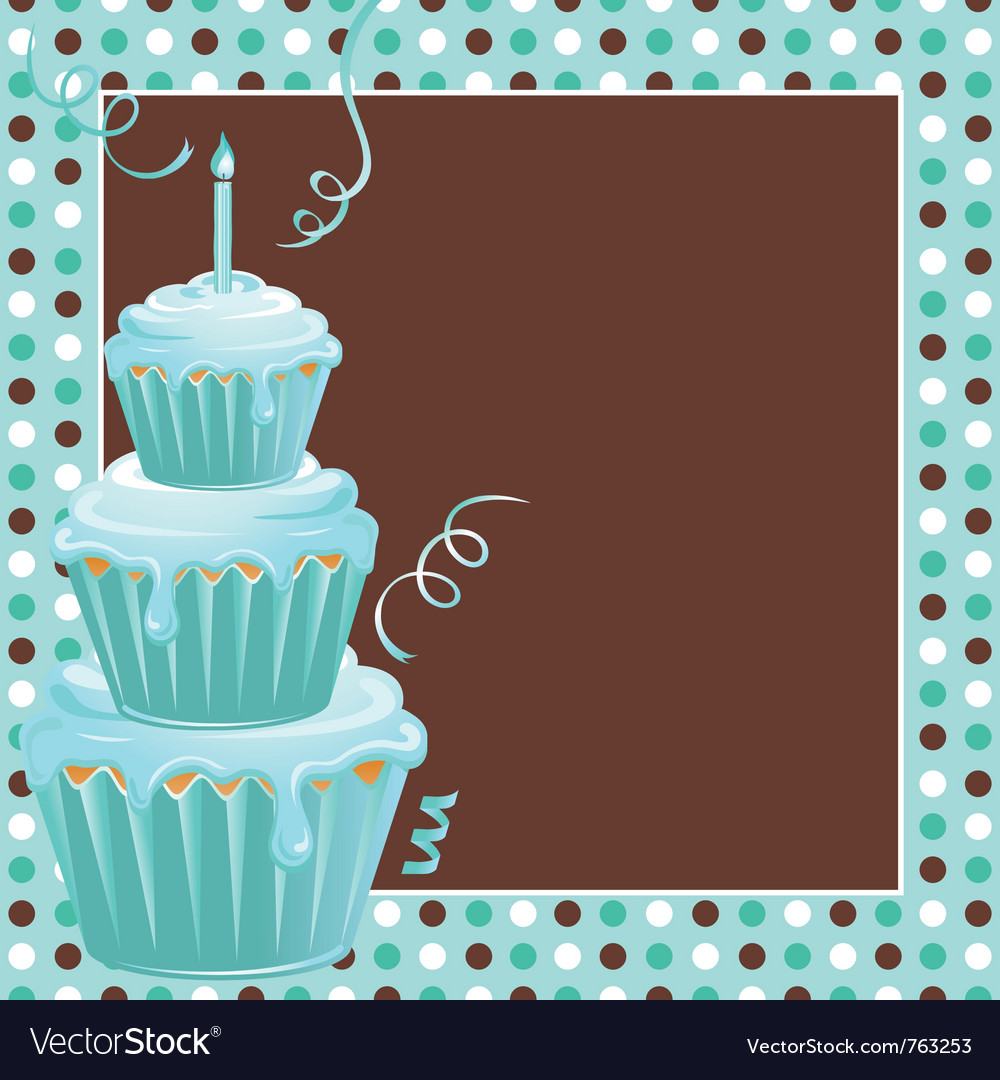 Stacked cupcakes vector | Price: 1 Credit (USD $1)