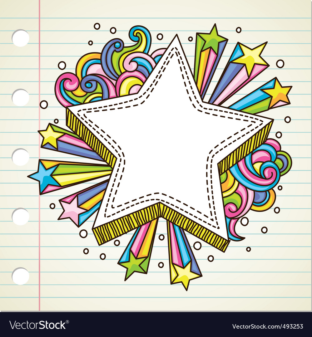 Star doodle vector | Price: 1 Credit (USD $1)