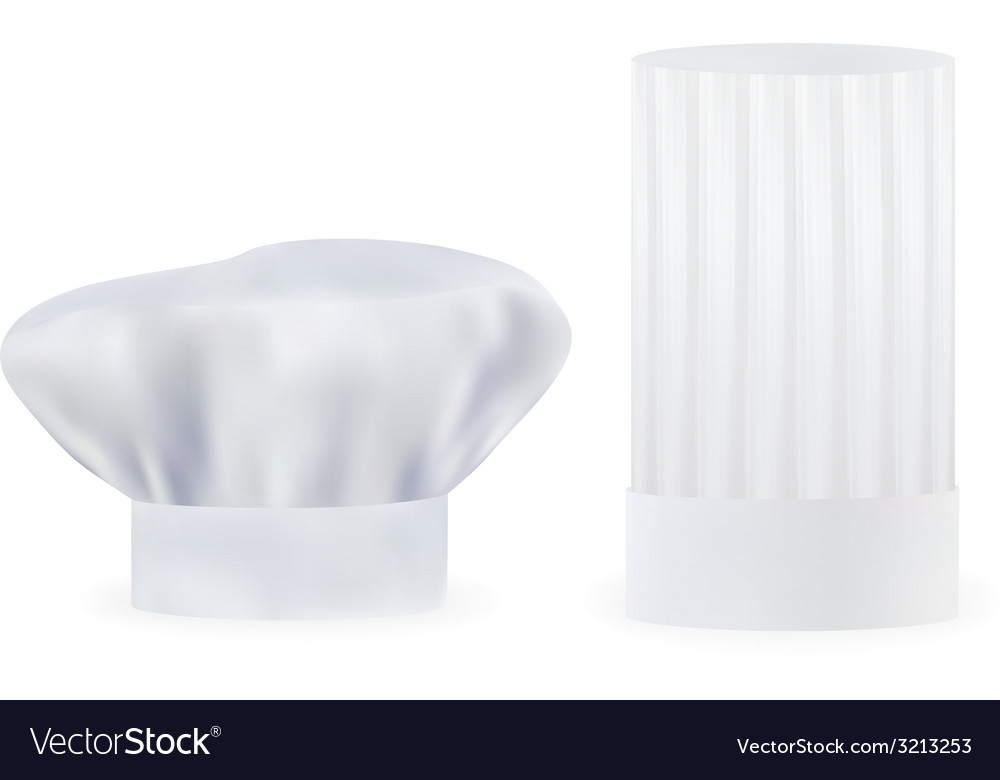 Two chef hat vector