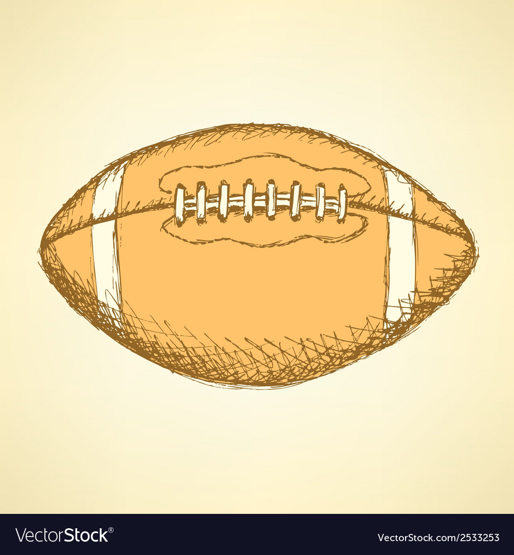Us football ball vector | Price: 1 Credit (USD $1)