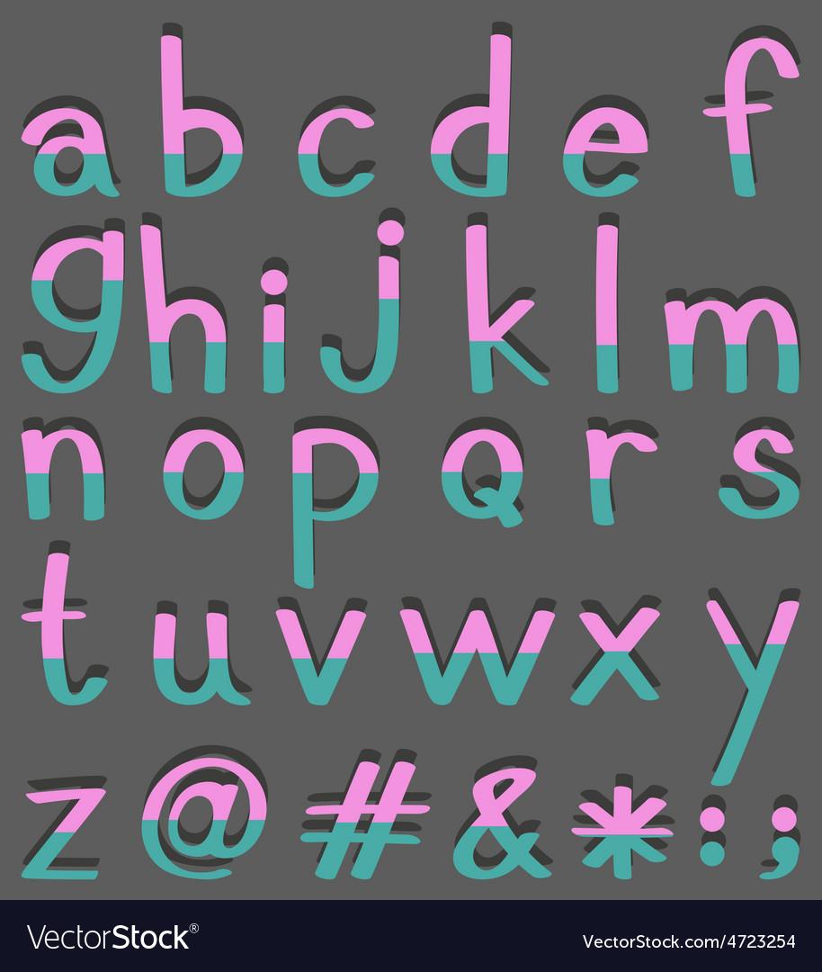 Alphabets vector | Price: 1 Credit (USD $1)