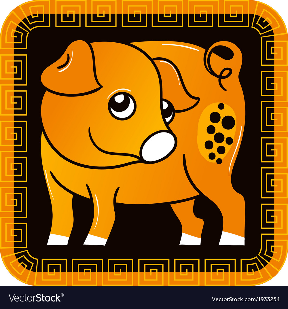 Chinese horoscope year of the pig vector | Price: 1 Credit (USD $1)