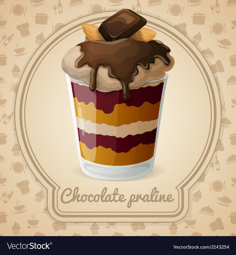 Chocolate praline poster vector | Price: 1 Credit (USD $1)
