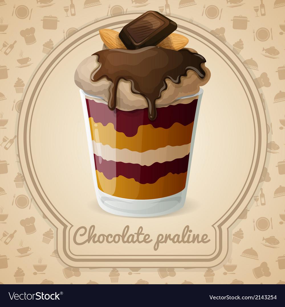Chocolate praline poster vector | Price: 1 Credit (USD $1)
