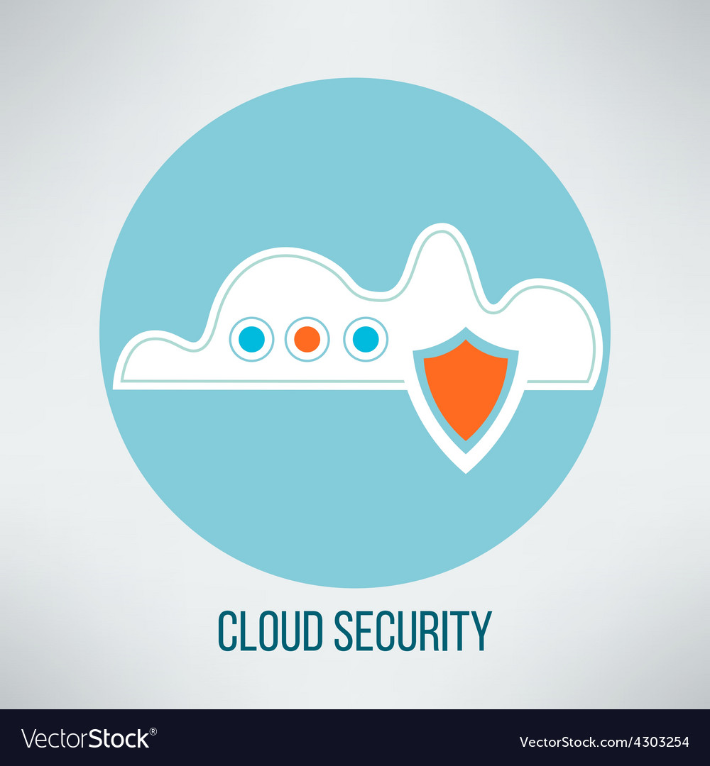 Cloud computing security icon data protection vector | Price: 1 Credit (USD $1)