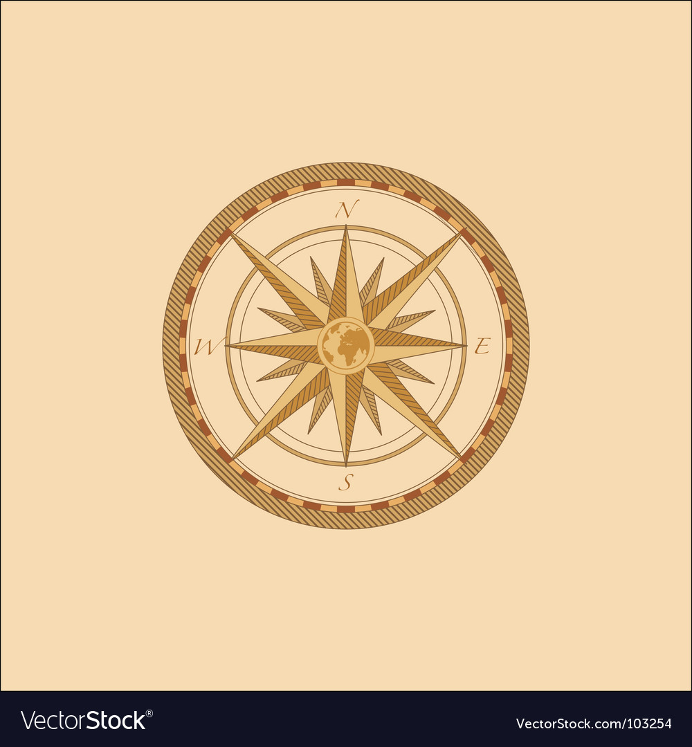 Compass windrose vector | Price: 1 Credit (USD $1)