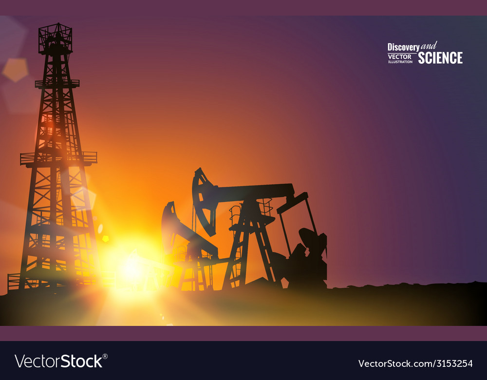 Oil field vector | Price: 1 Credit (USD $1)