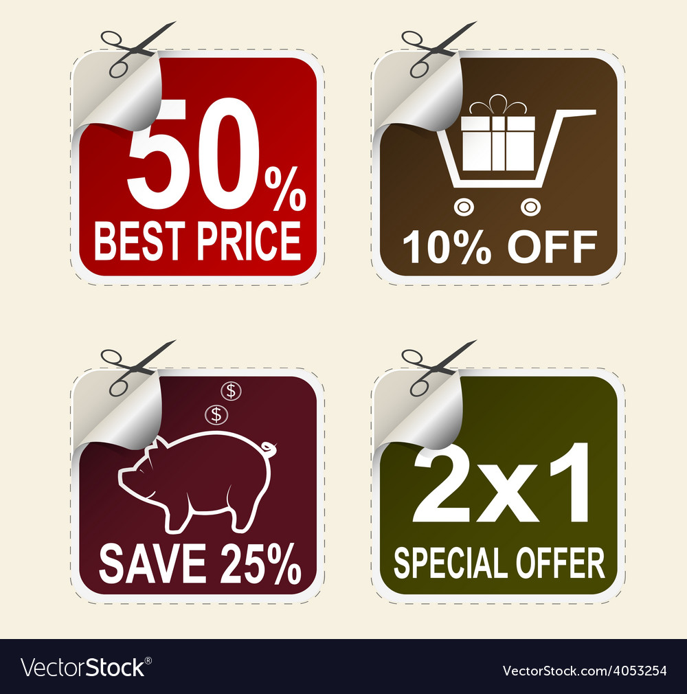Sale coupons vector | Price: 1 Credit (USD $1)