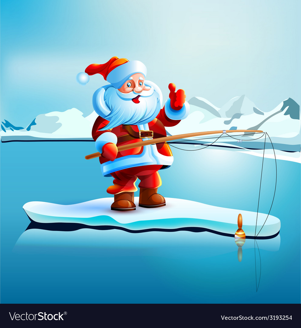 Santa claus shows thumbs up vector | Price: 5 Credit (USD $5)