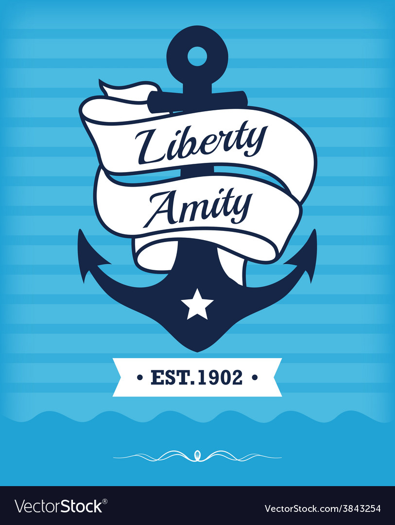 Vintage label with maritime character vector | Price: 1 Credit (USD $1)
