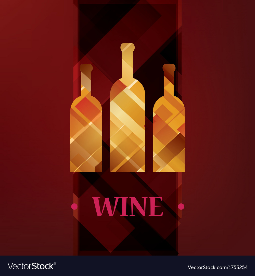 Wine menu card stylized background vector | Price: 1 Credit (USD $1)