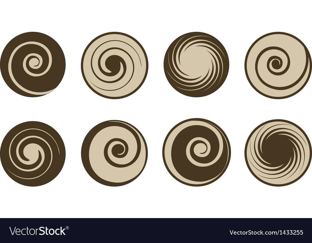 Abstract coffee and milk set vector | Price: 1 Credit (USD $1)