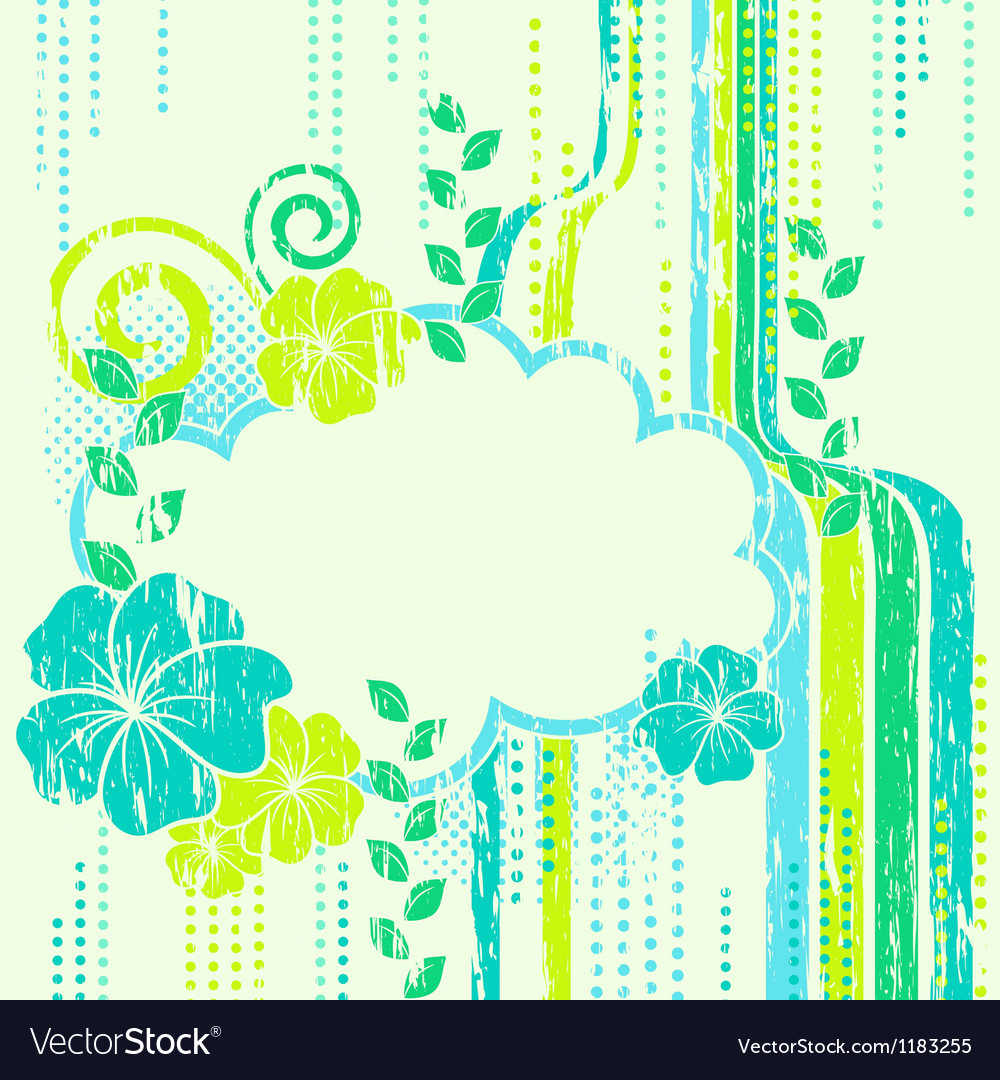 Abstract nature composition beautiful frame vector | Price: 1 Credit (USD $1)