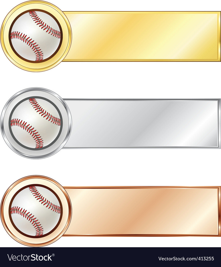 Baseball medals vector | Price: 1 Credit (USD $1)