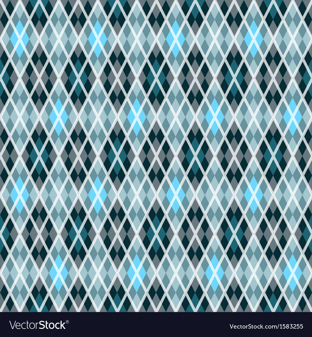 Blue and gray seamless checkered pattern vector | Price: 1 Credit (USD $1)