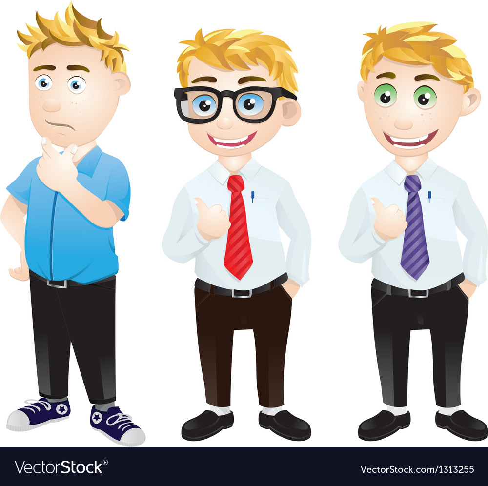 Character office worker vector | Price: 3 Credit (USD $3)