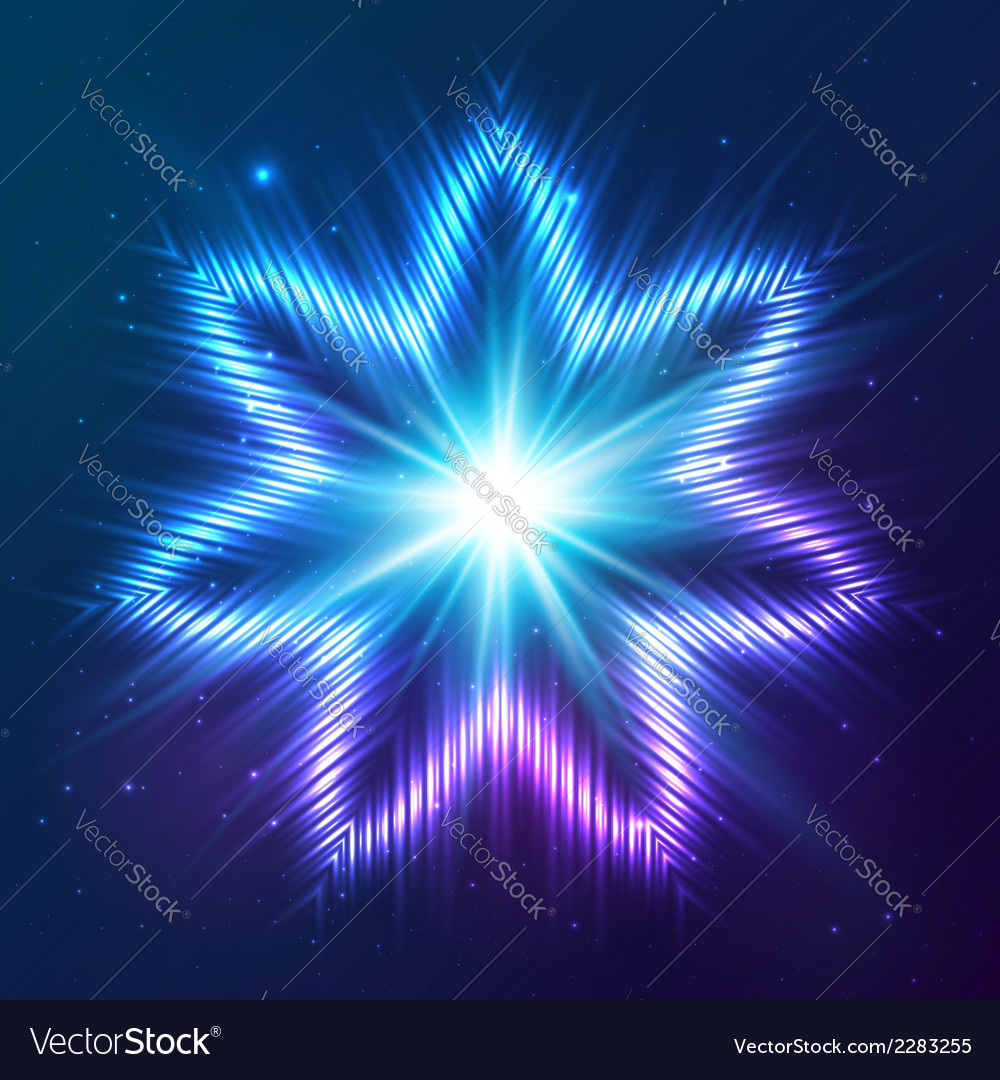 Cosmic shining abstract star vector   Price: 1 Credit (USD $1)