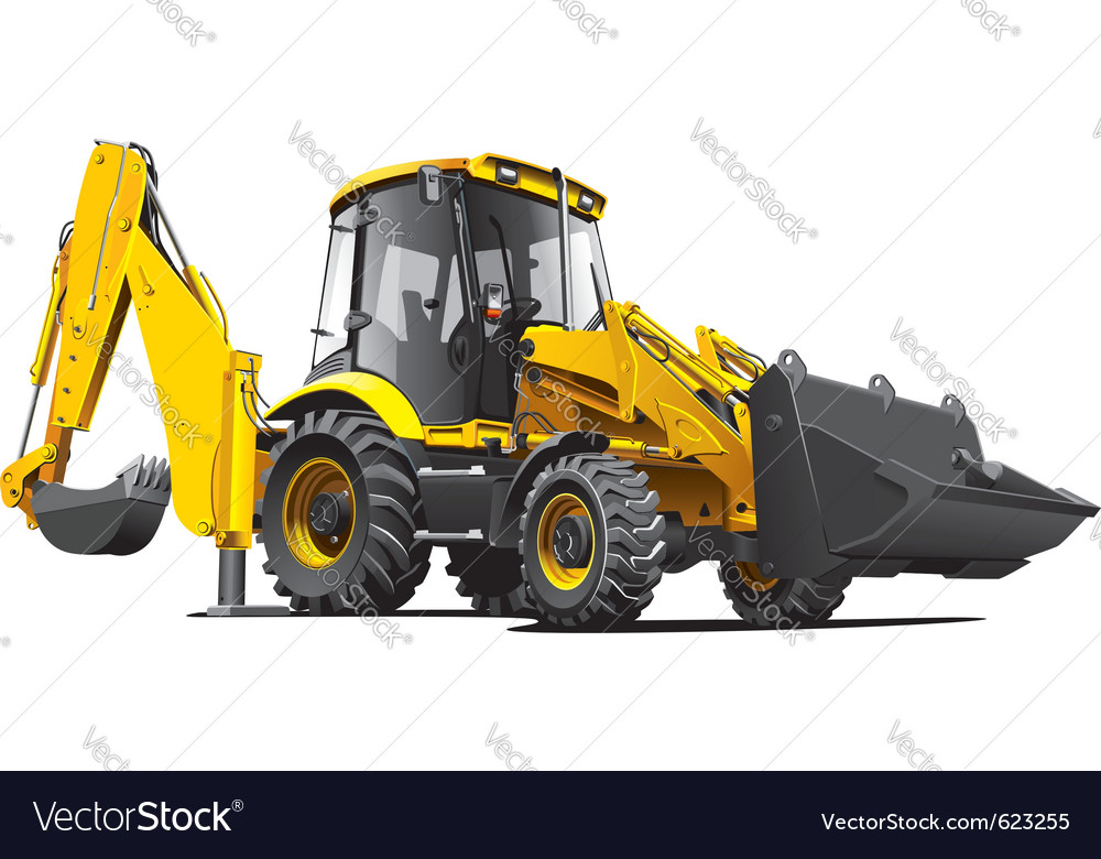 Detailed image of yellow backfiller isolated o vector | Price: 3 Credit (USD $3)