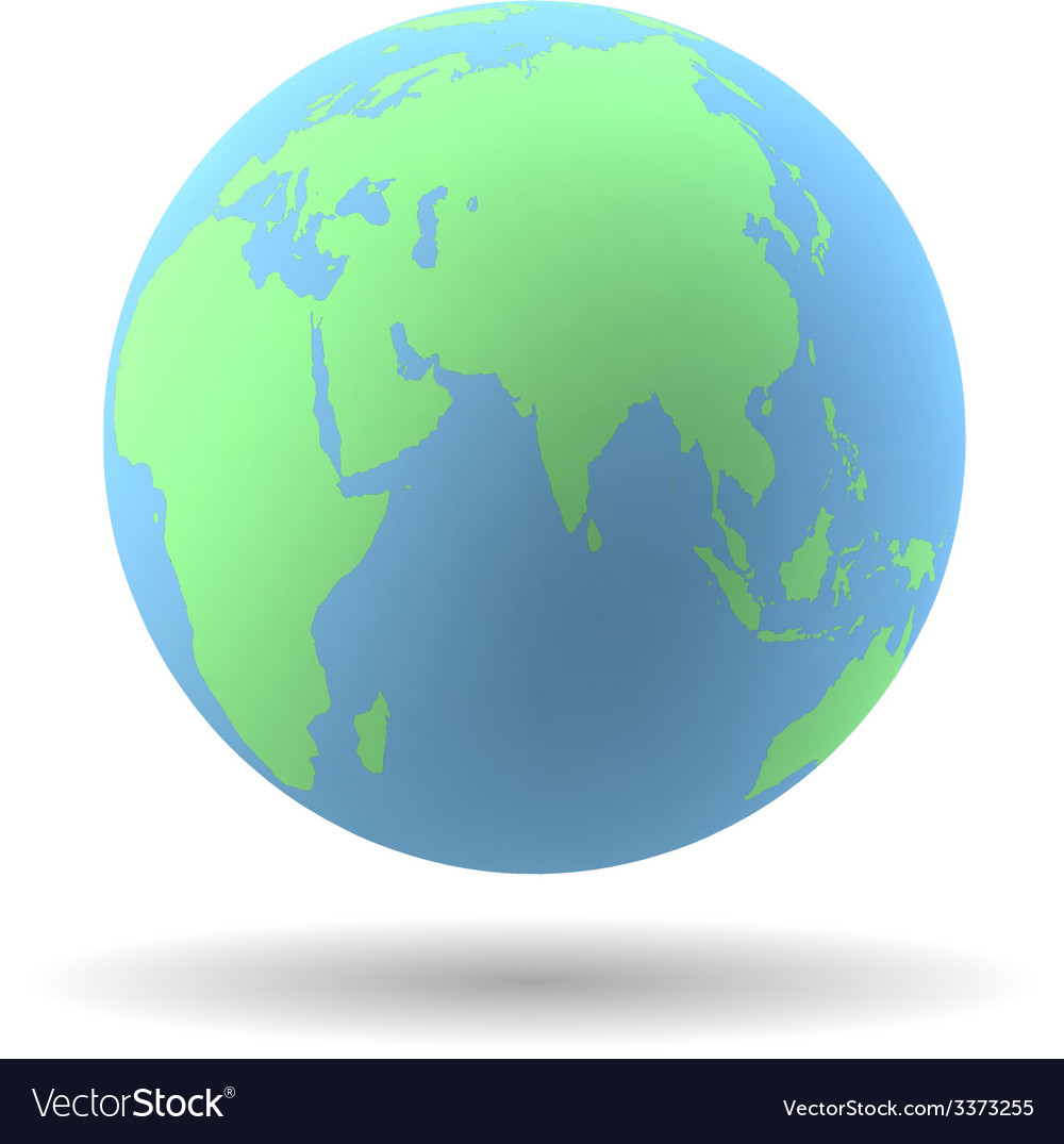 Earth globe vector | Price: 1 Credit (USD $1)