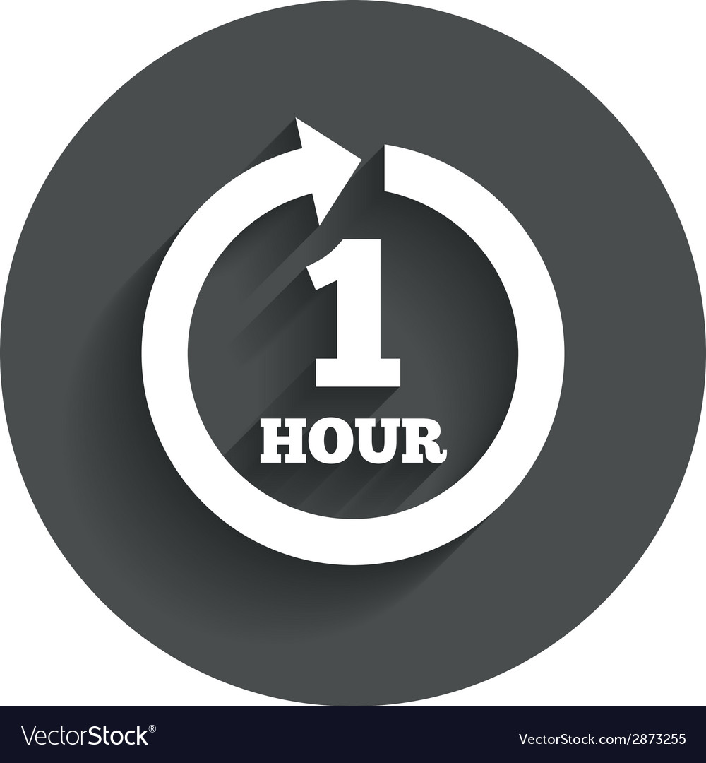 Every hour sign icon full rotation arrow vector | Price: 1 Credit (USD $1)
